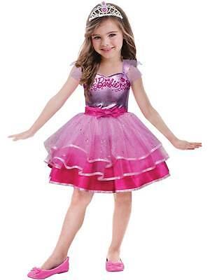 Girls Barbie Ballerina Princess Ballet New Fancy Dress Costume Child Dance - Girls Barbie Costume