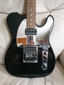 Black Gothic Fat Telecaster HH Electric Guitar