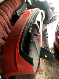 Audi A1 rear bumper and diffuser