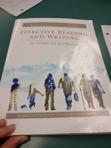 """Selling """"Effective Reading and Writing for COMM 170 and Beyond"""