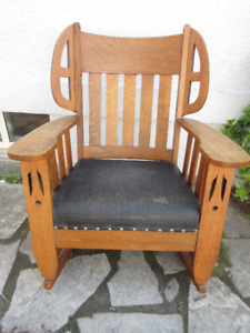 Mission Style Antique (c1910) Oak Rocking Chair