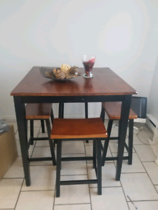 Table bistrot +4 tabourets