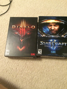 Diablo 3 and Starcraft - Wings of Liberty (for PC)