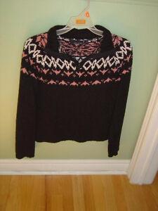 Black velour knit women's sweater size small London Ontario image 1