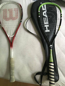 3x Very good condition Squash rackets