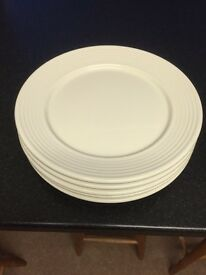5 large charger plates