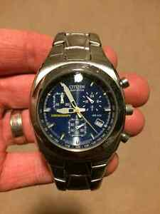 Men's Citizen Eco Drive Chronograph Watch