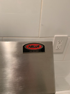Nella commercial double sink with drain boards