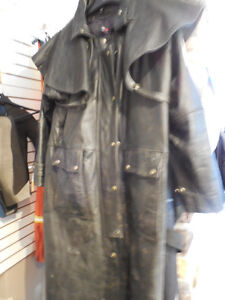 "Leather ""mantracker style"" coat @recycledgear.ca Kawartha Lakes Peterborough Area image 1"