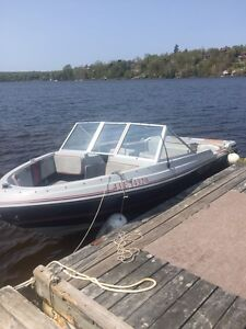 16 1/2 foot bow rider come test drive it on Long Lake