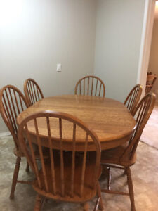 Solid Oak Wood dining set
