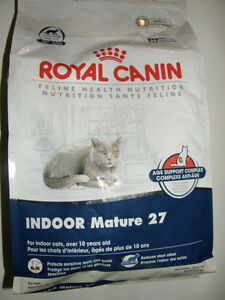 ROYAL CANIN INDOOR MATURE 27 CAT FOOD - 5.5 POUND BAGS