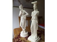 """Alabaster figurines approx 15"""""""