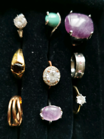 Joblot of new and used rings x 14