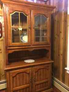 Pine Buffet and Hutch