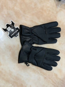 Long Cuff Winter Gloves in leather
