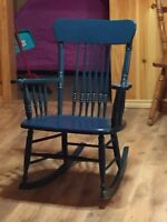 Painted wide rocking chair
