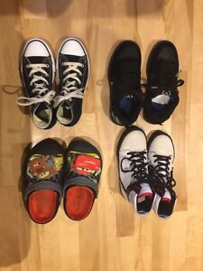 Crocs , 2 high cut sneakers and Games sneaker Size 1