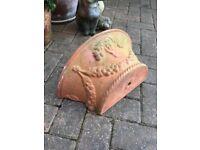 Lovely larger terracotta old garden wall planter