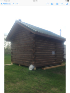 Tiny House brand new log timber cabin with a large country lot