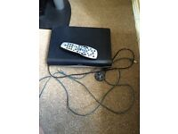 Sky box remote and cables