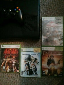 250GB Xbox Slim with 4 games