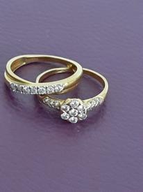 Diamond ring set/wedding rings