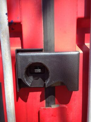 Bolt On Shipping Container Security Lock Box With A Free Puck Lock Template