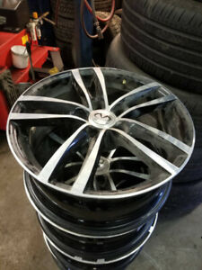 4 infiniti rims with winter tires Toyo, 225/55R17