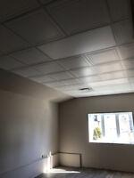 Installation plafond suspendu