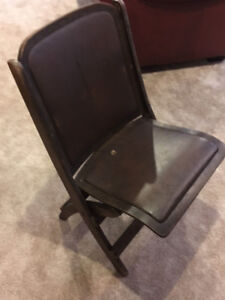 Antique Folding Theater Chair