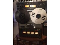 """Teac A-3440 vintage 1/4"""" reel to reel tape recorder (fully working)"""