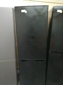 Lec tall fridge freezer black with warranty at Recyk Appliances
