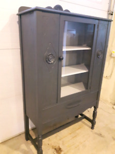 Beautifully refinished antique hutch