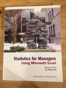 McGill MGCR 273 Statistics for Managers