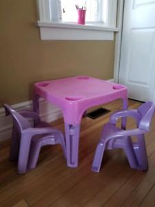 kids play table set and kicthen set
