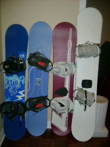 snowboard with bindings for men / women