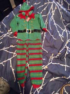 Elf fleece PJs size 2-3