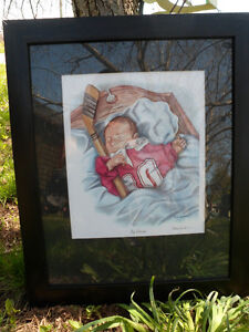 Big Dreams Russ Gordon Hockey Baby Picture Art Print Frame
