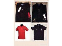 Ralph Lauren men's polo t shirt big pony short sleeves £15 each cotton
