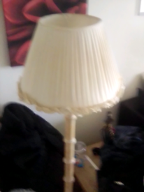 Pine standing Lamp with shade