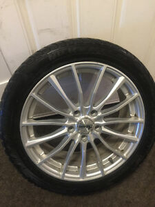 SET OF 4, Firenza Nu Ice NTS-01 225/45/R17 TIRES AND RIMS