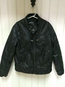 Boys size 8 faux leather motorcycle jacket