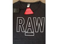 Mens New G Star Raw T Shirt - Size Small RRP £35