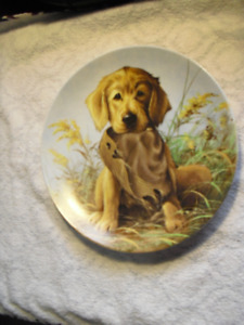 """""""Caught in the Act"""" The Golden Retriever Plate"""
