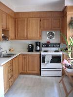Armoires en chêne massif/solid oak cabinets - $250 (Montréal)