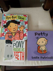Children's board books: potty, teeth brushing and separation