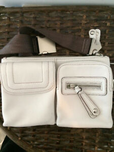 Daniel Leather Creamy White Waist Purse (Fanny Pack)