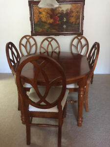 Real Wood Dining Suite x 6 Chairs