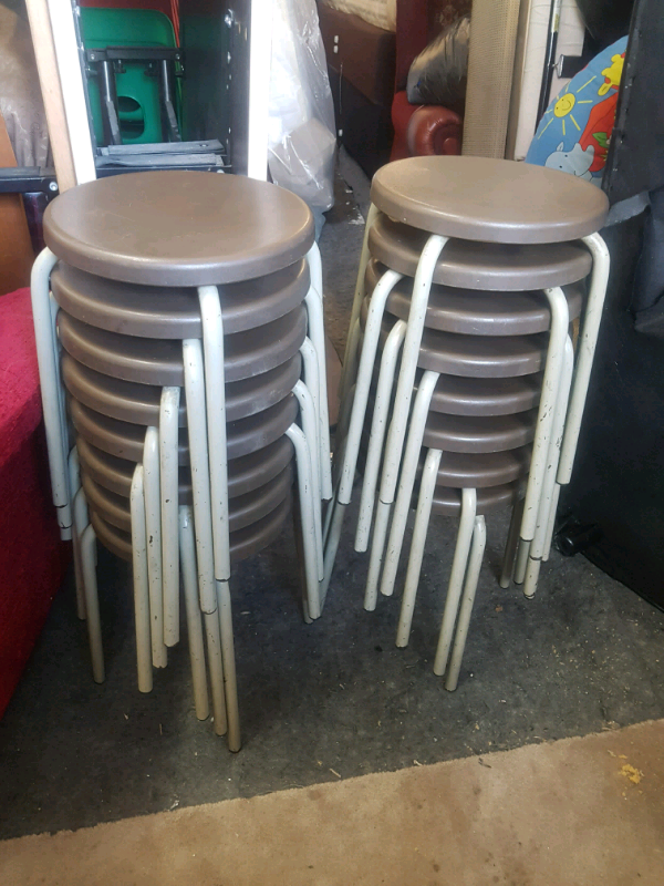 Strange Stools Quality Round Plastic Seat Metal Frame Stackable Stools In Bradford West Yorkshire Gumtree Ncnpc Chair Design For Home Ncnpcorg